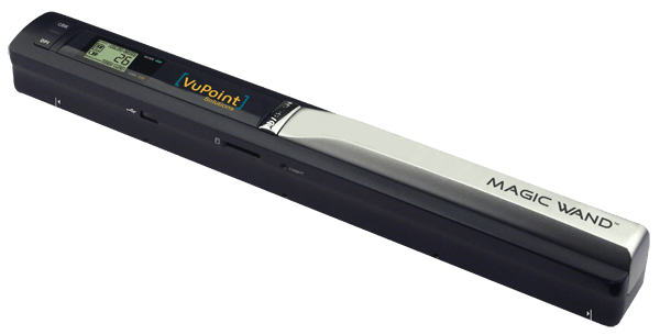 PDS-ST410-VP VuPoint Solutions Magic Wand portable scanner scans B&W pages in 4 seconds