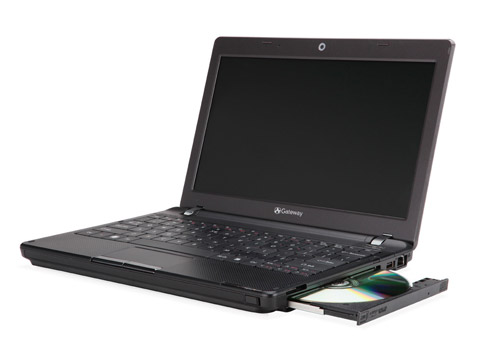 gateway-EC14D01h Gateway EC Series ultraportable notebook adds optical drive