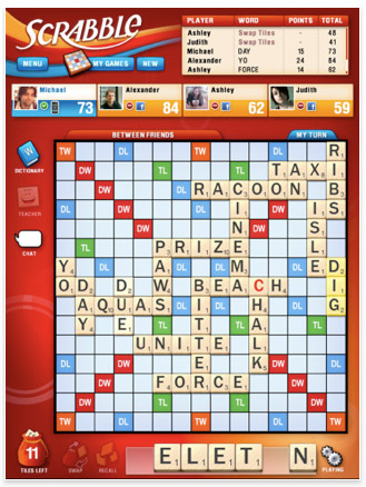 ipad-app-scrabble 43 iPad apps that will rock your accelerometers off