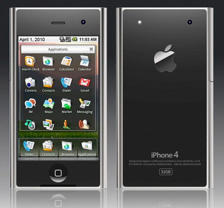 iphone4 April Fools: Next Apple iPhone to run Google Android