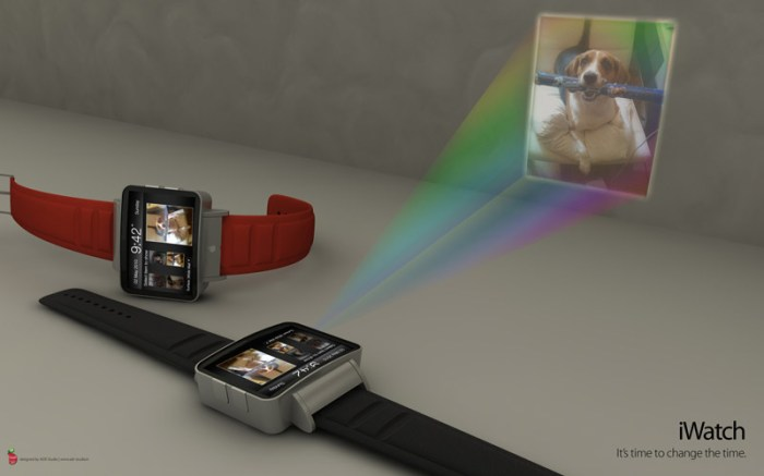 iwatch-concept-005 iWatch projector watch concept puts a whole lot of Apple on your arm