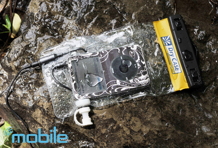drycase-ipod Review: DryCase keeps your beats going underwater