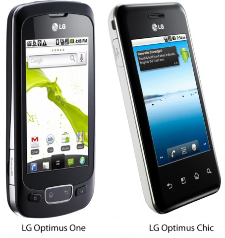 LG-Optimus-One-Chic-454x479 LG Optimus smartphone and tablet launched on Android 2.2