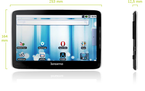 interpad-size German E-Noa Interpad Android tablet rocks Tegra 2 chip, slated for December release