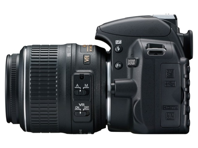 nikon-D3100_18_55_left Nikon D3100 14.2 megapixel DSLR with HD Video makes a friendly, learning experience