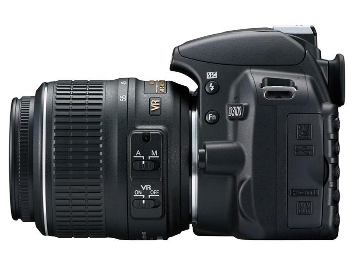 nikon-D3100_18_55_left Nikon D3100 14.2 megapixel DSLR with HD Video makes a friendly, learning experience