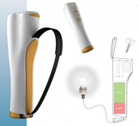 river-powered-charger Portable charger uses the river to generate power