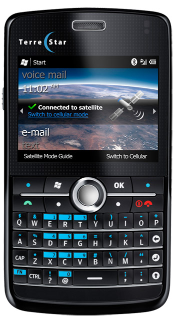 TerreStar-PDA $800 Terrestar Genus satellite phone deployed on AT&T