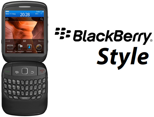 blackberry-style-9670 BlackBerry Style (9670) is a clamshell QWERTY flip phone
