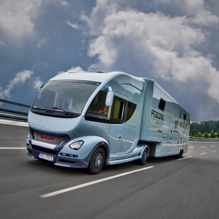 futuria-sportsspa-caravan Pimped out Motorohome for the rich
