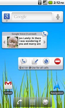 image2 New Google Voice widgets for Android smartphones