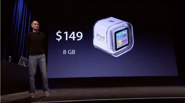 ipod-nano 6th gen iPod Nano has multitouch, $149 for 8GB and $179 for 16GB