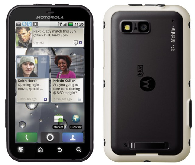 motorola-defy Motorola Defy Android smartphone is rugged, exclusively on T-Mobile