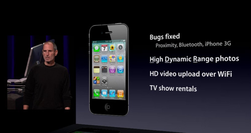steve-jobs-keynote iOS 4.1 to come to iPhone and iPod, iOS 4.2 for iPad