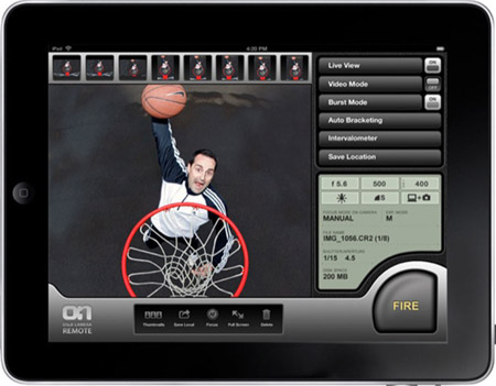 onecam-ipad iPad OnOne DSLR remote Camera app does what all other remote camera software does