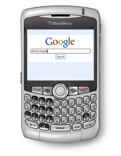 google-blackberry Google mobile searches up 130%