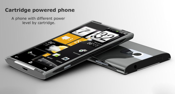 """htc_tube21 Concept """"tube"""" phone swaps its guts with cartridges"""