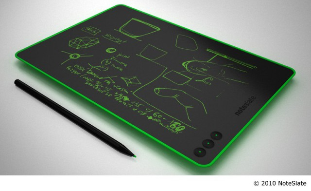 noteslategreen-640x392 $99 NoteSlate may become the new college notebook