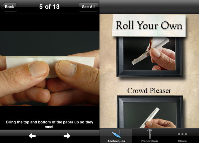 roll-your-own New iPhone app teaches newb tokers to roll like Chong himself