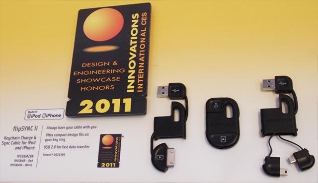 scosche-flipsync-ii-ces  Scosche flipSYNC II keychain cable wins award at CES