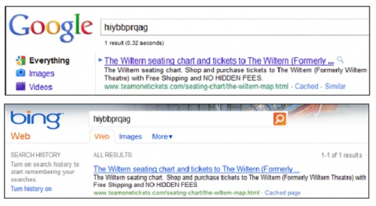 googlebing Google sting finds Bing copying Google's search results