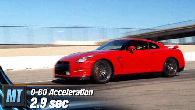 nissan-gt-r Video: 2012 Nissan GT-R Does 0-60 In 2.9 Seconds