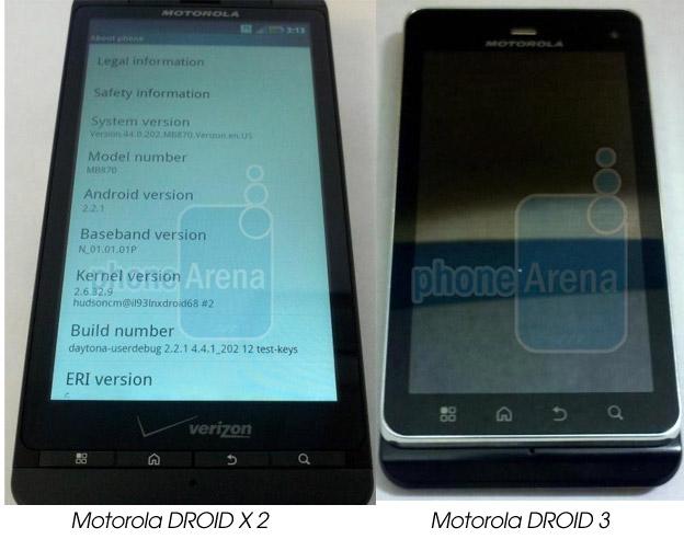 motorola-droidx2-3 Leaked: Motorola Targa, Droid X2, Droid 3 Android Smartphones