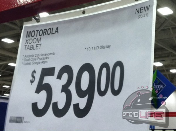 xoom-wifi-sams-club2-600x448-1 Motorola XOOM Wi-Fi Only Model Selling for $539 at Sam's Club?