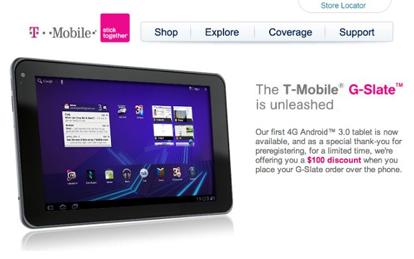 gslate-discount  How to Get T-Mobile G-Slate Tablet for $100 Less