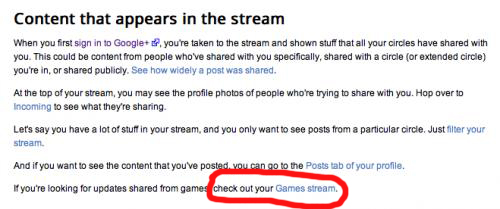 googleplusgames Google+ slowly turning into Facebook already with Games Stream