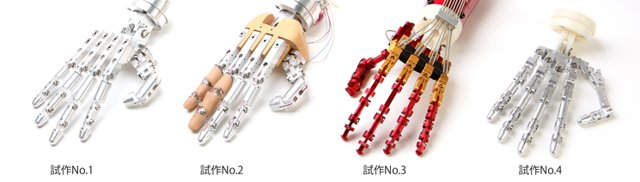 15-Handroid Handroid robot hand by ITK is remote controlled with a glove