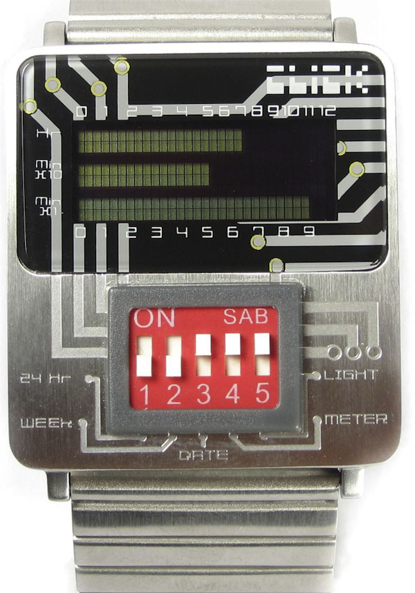 click5 Uber geek watch has dip switches