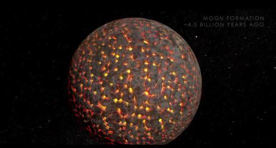 120316-moon NASA: The Evolution of the Moon (Video)