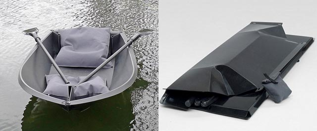 120521-boat Foldboat: Plastic Rowboat Folds Up to Fit in a Backpack