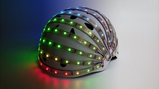 helmet LumaHelm Uses Programmable Bright LEDs To Keep You Safe