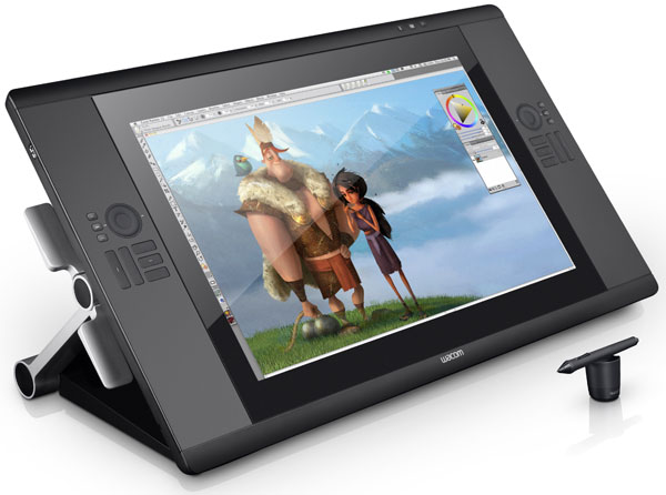120710-wacom Wacom's Cintiq 24HD Multi-Touch drawing tablet pegged at $3699, largest yet