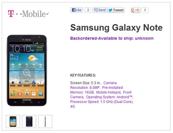 120824-gnote Samsung Galaxy Note Leaving T-Mobile USA By November 1? $160 on AT&T