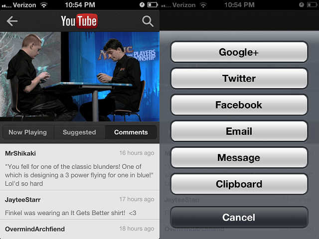YOUTUBE2 App Review: YouTube for iOS
