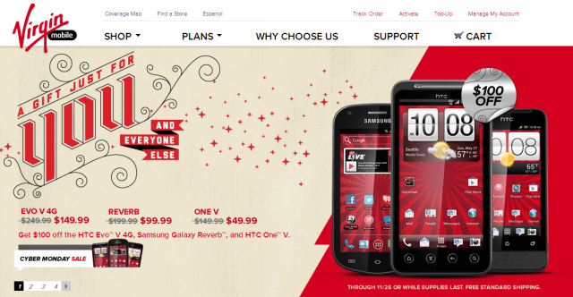 htc-virgin-mobile-640x332 Cyber Monday Deal: HTC Evo V 4G for $150, and Many Other Steals