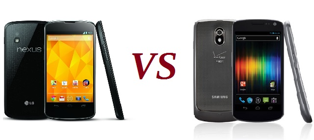 nexus-vs-nexus Comparing the Galaxy Nexus to the Upcoming LG Nexus 4
