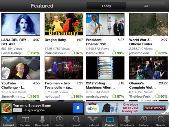 videotube2 Video Tube iPhone App Review