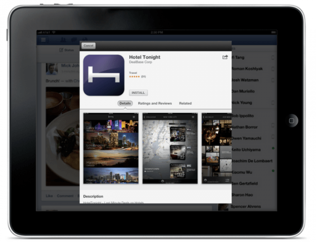facead-640x490 Facebook iOS App Now Allows You to Install Apps Directly from Ads