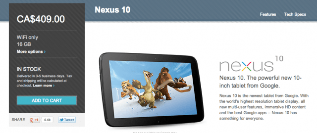 sammy-nexus Good News for Canada, Samsung Nexus 10 returns to Google Play