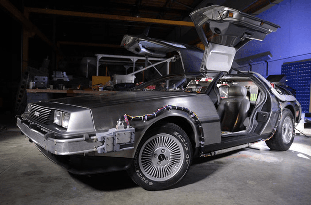 delorean Delorean Time Machine from Back to the Future Now Fully Restored