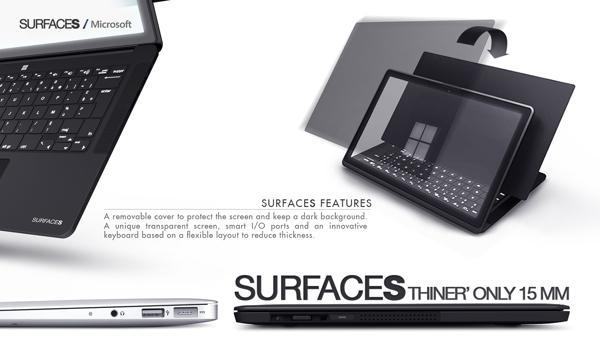 microsoftultrabook Designer Creates Microsoft Surface Ultrabook Concept