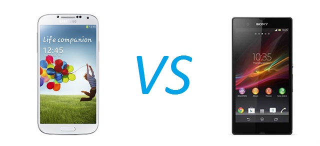 Gs4-xperiaz Sony Xperia Z versus Samsung Galaxy S4