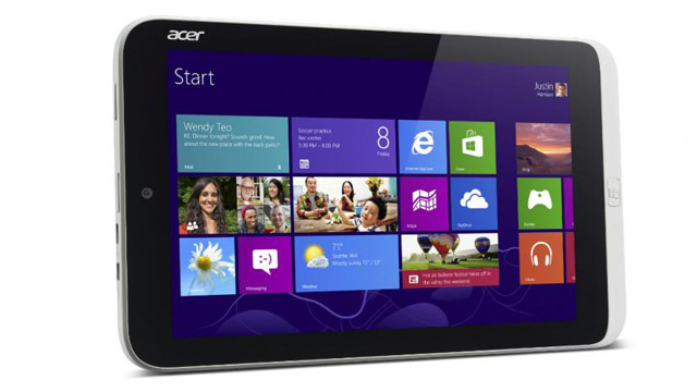 acertab Acer Officially Unveils its 8.1-inch Windows Tablet, Reveals Plans for More Touch Devices