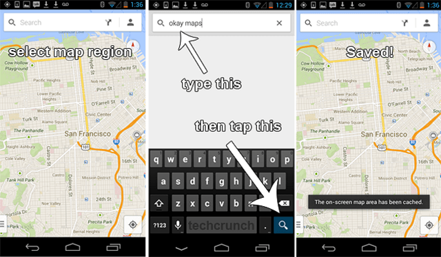 new-google-maps-offline New Google Maps for Android (Video)