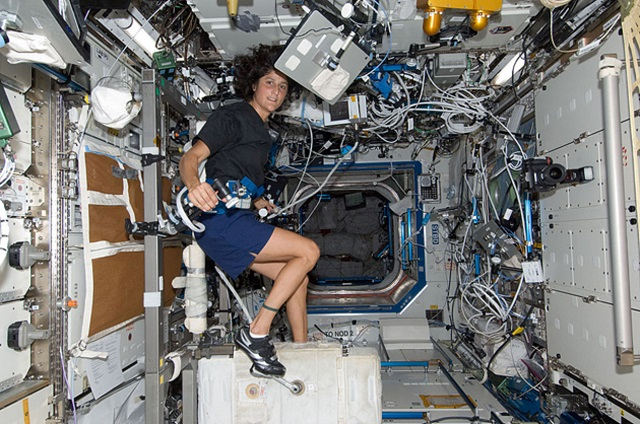 space-cycle How To Exercise In Space (Video)