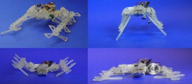 130802-robot-640x280 Video: STAR 3D-Printed Robot Flattens Legs to Slip Under Small Gaps